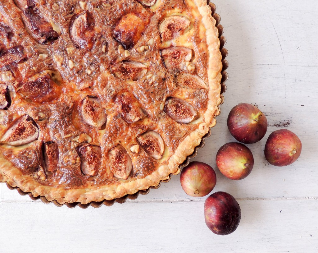 Fig and Cheese tart, tart, figs