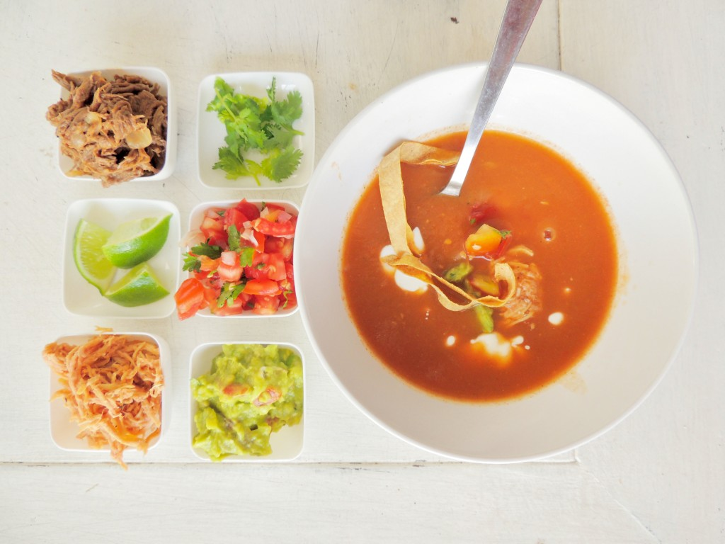 Mexican Tortilla Soup - The Petit Gourmet