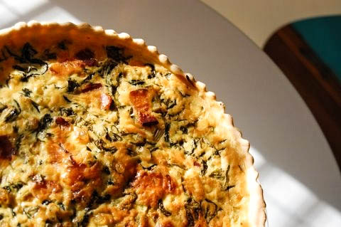 Spinach and bacon quiche - The Petit Gourmet