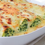 Leek, spinach and ricotta cannelloni