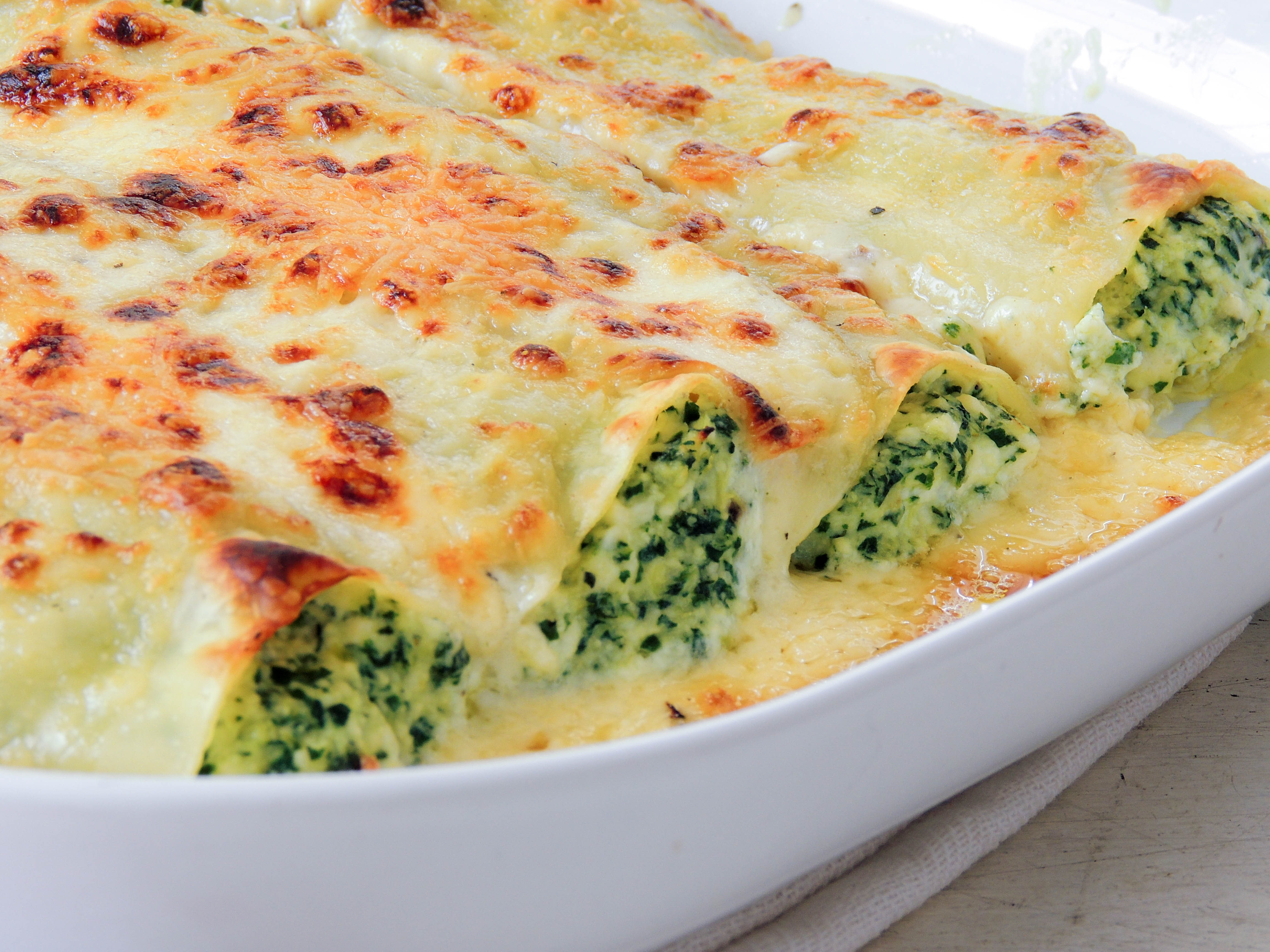 Leek, spinach and ricotta cannelloni – The Petit Gourmet