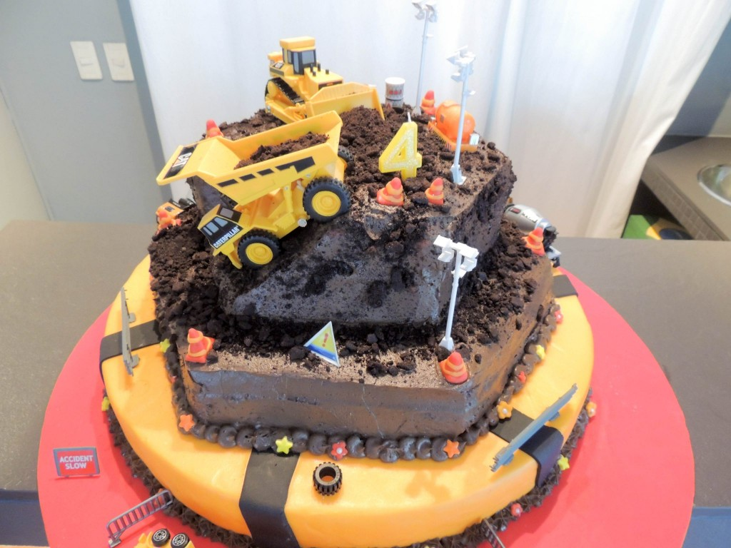 Chocolate construction cake - The Petit Gourmet