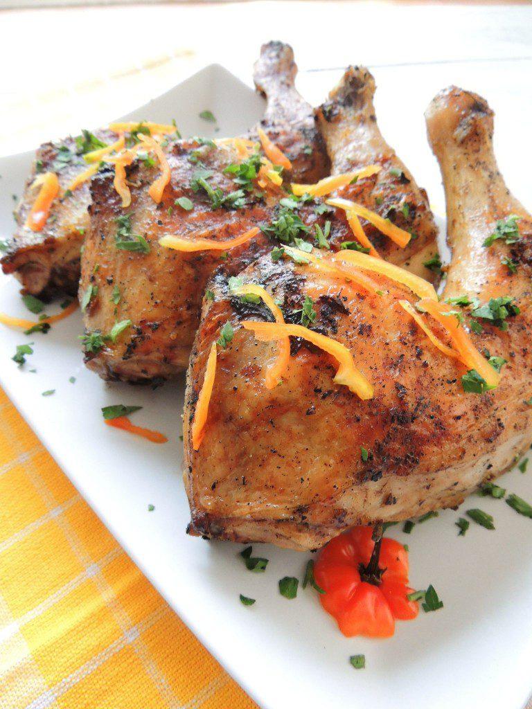 BBQ Jerk Chicken #weekdaysupper - The Petit Gourmet