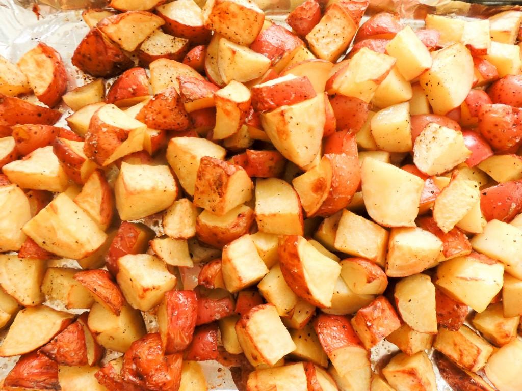 Baked potatoes salad - The Petit Gourmet
