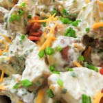 Baked potatoes salad