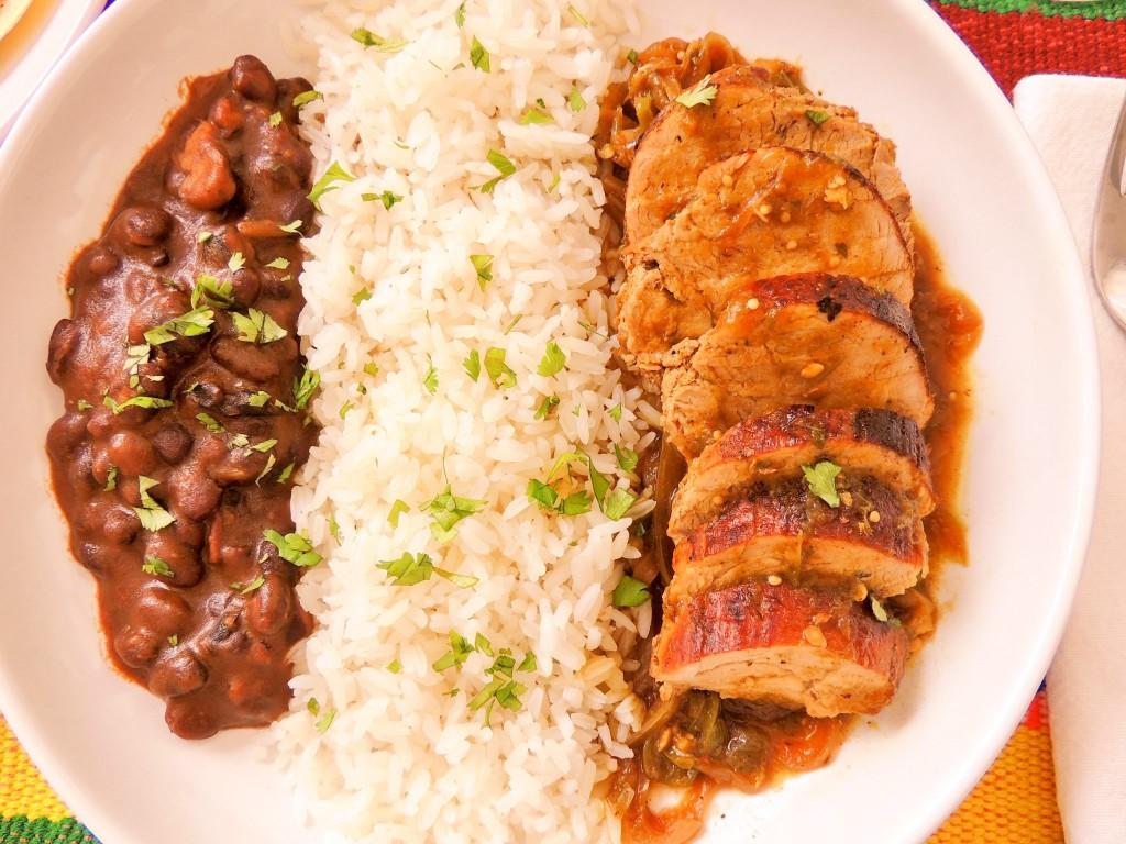 Spicy Tomatillo pork tenderloin