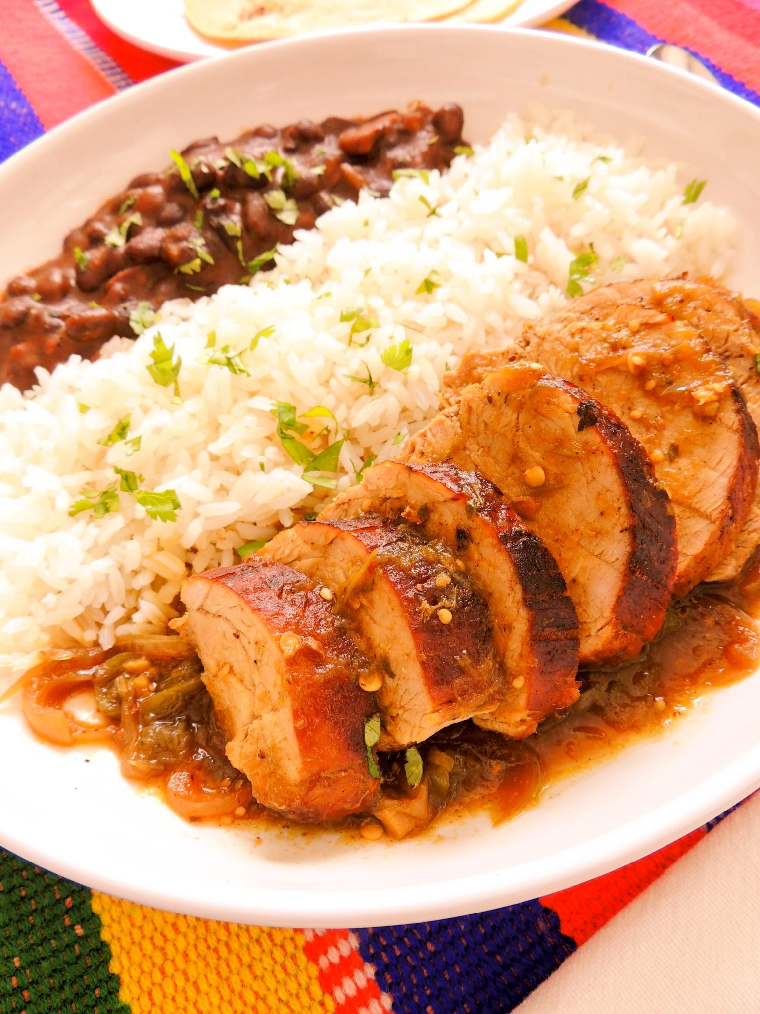 Salsa verde pork tenderloin - The Petit Gourmet