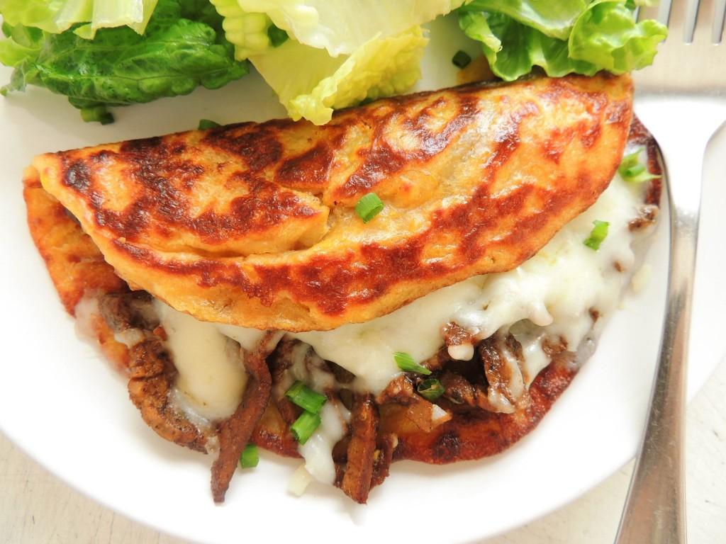 Cachapas or corn pancakes - The Petit Gourmet