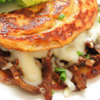 Cachapas or corn pancakes