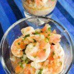 Camarones a la vinagreta (shrimp vinaigrette)