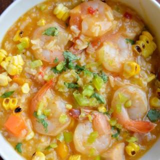 Asopao de camarones (Shrimp & rice stew)