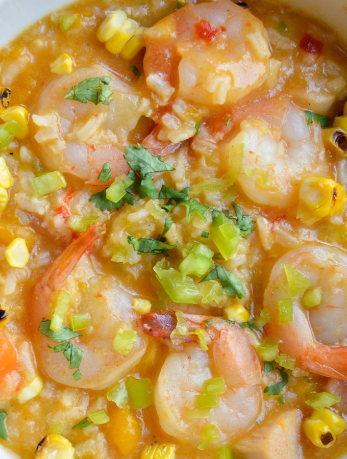 Asopao de camarones (Shrimp & rice stew)