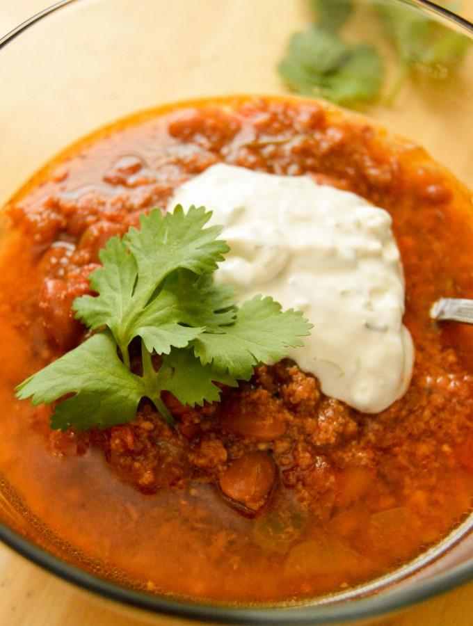Easy crock pot turkey chili