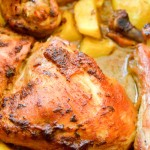 One pot chicken and potatoes roast