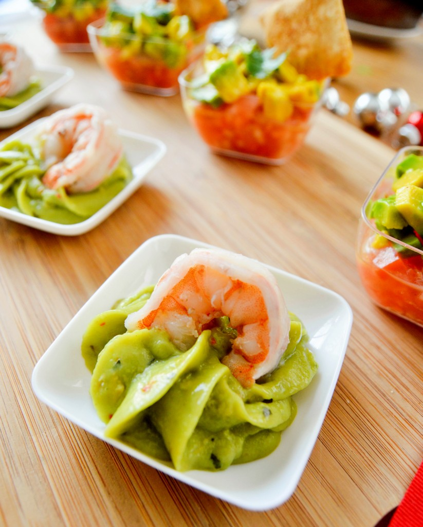 Avocado canape trio for Where to buy canape cups