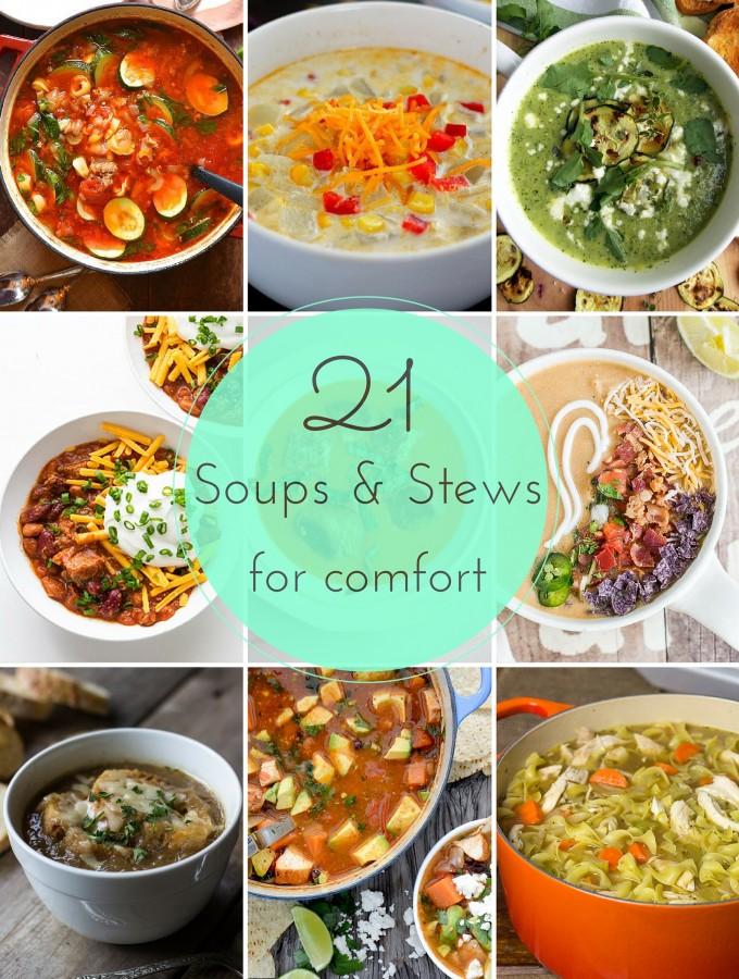 21 Comfort soups & stews