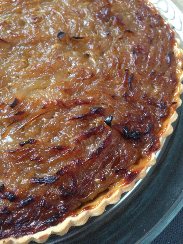 Caramelized onions tart