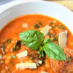 Amazing Tomatoes and meatballs soup