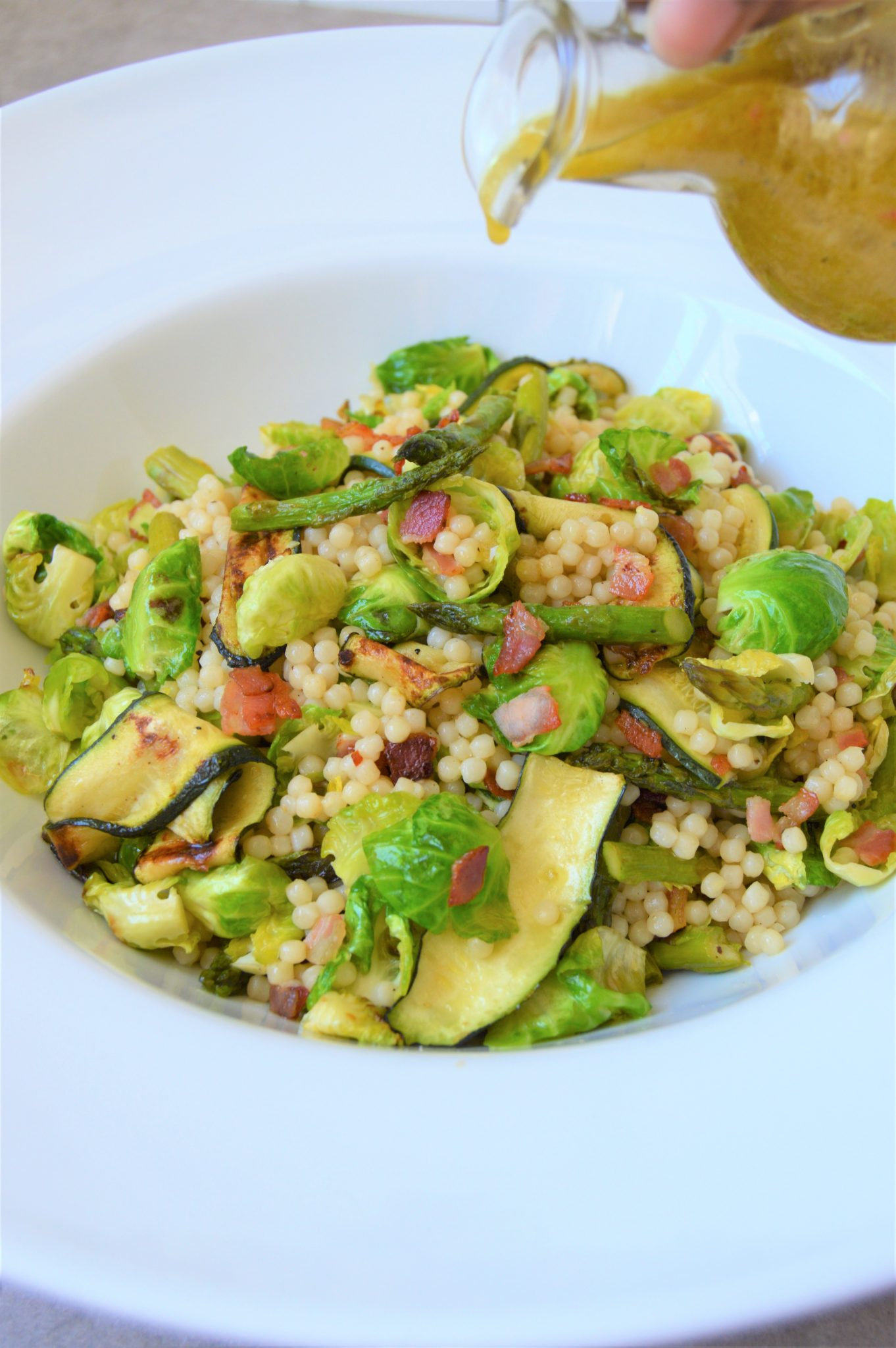 Wonderful spring sprouts pearl couscous salad - The Petit Gourmet