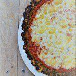 Easy cauliflower kale pizza crust