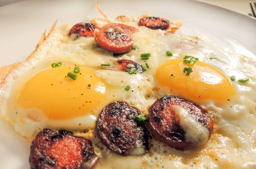 Eggs with chorizo