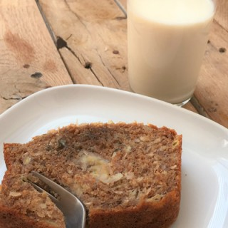 Coconut Macadamia Banana bread