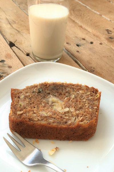 Coconut Macadamia Banana bread