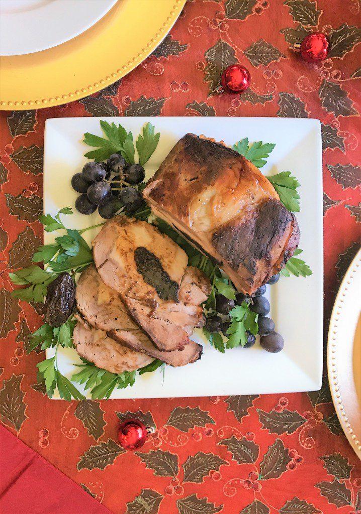 Cuban Pork Loin stuffed with prunes